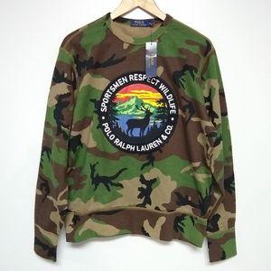 Polo Ralph Lauren Sportsman Camo Sweatshirt sz M